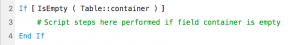 Simple If script statement