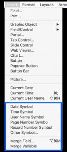 Insert menu merge