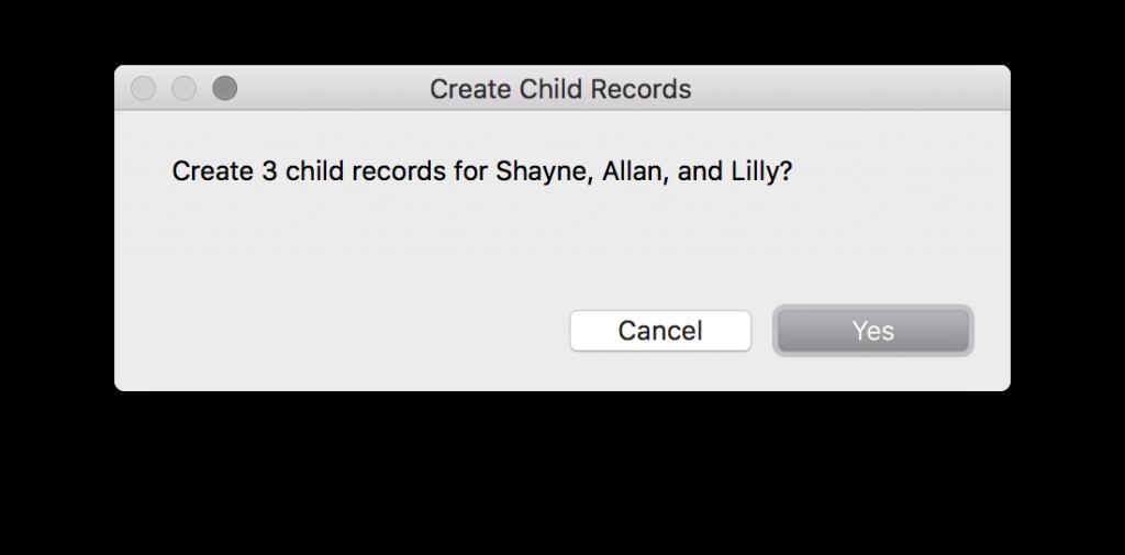 dialog check record loop create