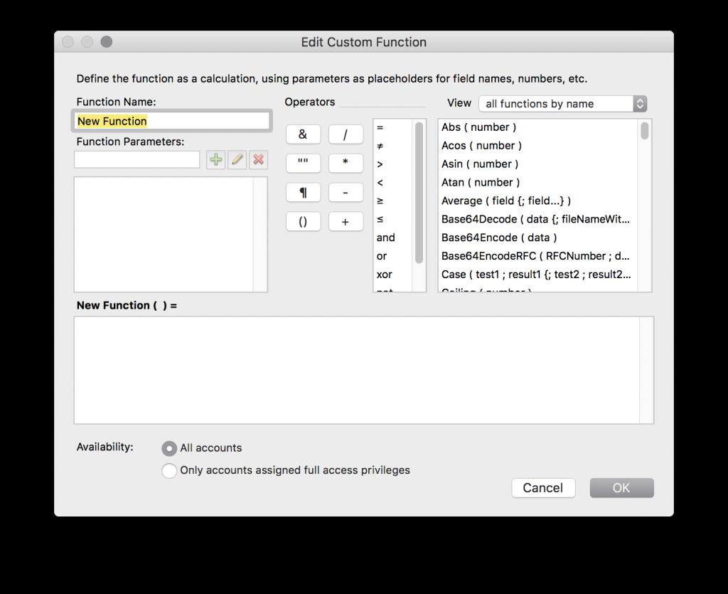 edit custom function