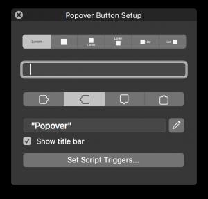 popover button setup